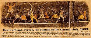 La Amistad - 1840 engraving depicting the Amistad revolt