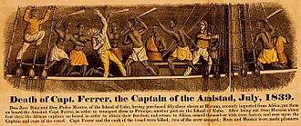 La Amistad - 1840 engraving depicting the Amistad revolt