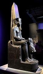 Amon protecting Tutankhamun