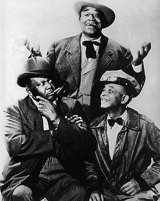 Amos 'n' Andy - TV cast of The Amos 'n' Andy Show (1951-53). Spencer Williams (Andy), Tim Moore (Kingfish), and Alvin Childress (Amos)
