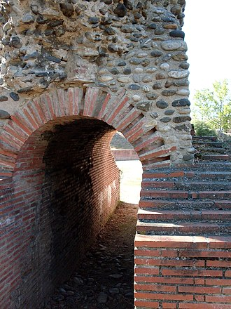 Toulouse - Vomitorium at the Roman amphitheatre in Toulouse