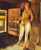Pigen på loftet fra 1905 af Anders Zorn (t v) og Verdens oprindelse fra 1866 af Gustave Courbet (t N)