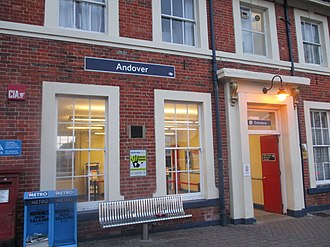 Andover railway station - Andover station exterior