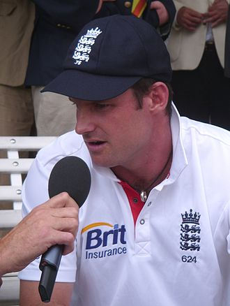 Andrew Strauss - Strauss being interviewed at the end of the Lord's Test match v Pakistan in August 2010