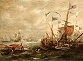 Andries van Eertvelt (1590-1652) - Spanish Engagement with Barbary Pirates - BHC0747 - Royal Museums Greenwich.jpg