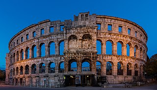 Pula City in Istria County, Croatia