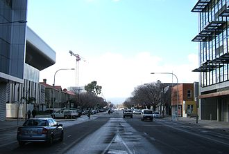 Angas Street, Adelaide - Angas Street, looking east from King William St in June 2010