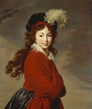 "Princess Juliane of Saxe-Coburg-Saalfeld - ""La Grande Duchesse Anna Feodorovna"", Portrait by Élisabeth-Louise Vigée-Le Brun, painted shortly after her wedding (ca.1795-1796). This portrait was destroyed by bombs during World War II"
