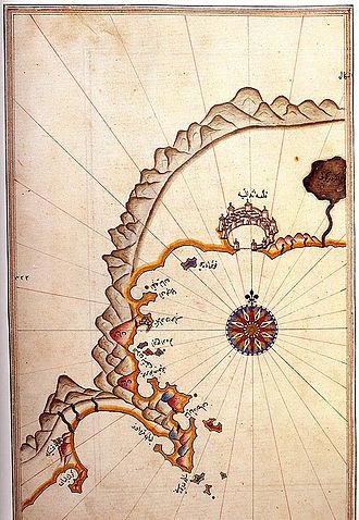 Kemer - Historic map of Kemer by Piri Reis