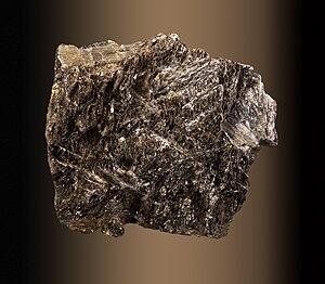 Anthophyllite - Image: Anthophyllite Suède Fond