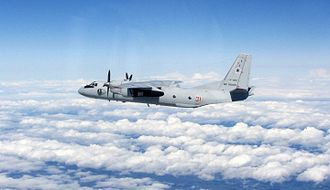 Antonov An-26 - Russian An-26 intercepted by a British Typhoon over the Baltics in July 2015