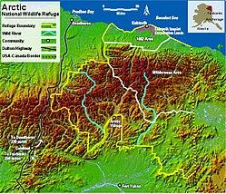 Arctic National Wildlife Refuge Map