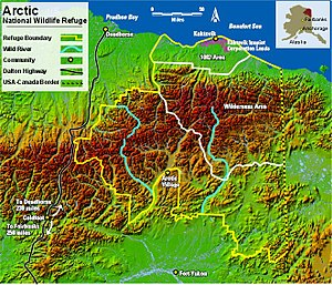 Arctic National Wildlife Refuge - Arctic National Wildlife Refuge Map.