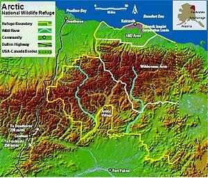 Arctic National Wildlife Refuge - Arctic National Wildlife Refuge Map.