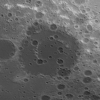 Apollo (crater) - Image: Apollo basin topo