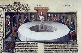 Apparizione del Sacro Graal, manoscritto, Parigi, XV secolo