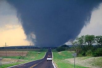 Tornado - A tornado approaching Marquette, Kansas.