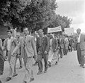 Arabische deelnemers aan een 1 mei demonstratie (Dag van de Arbeid), Bestanddeelnr 255-0165.jpg