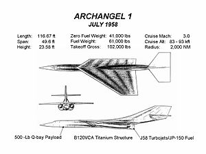 Lockheed A-12 - Archangel 1 design, July 1958