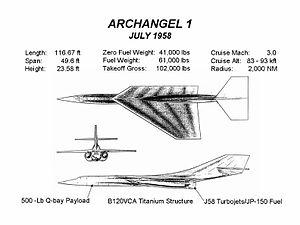 Convair Kingfish - Archangel 1 design (July 1958)