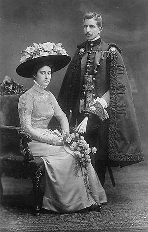 Hieronim Mikołaj Radziwiłł - Hieronim Mikołaj Radziwiłł and Archduchess Renata, 1909