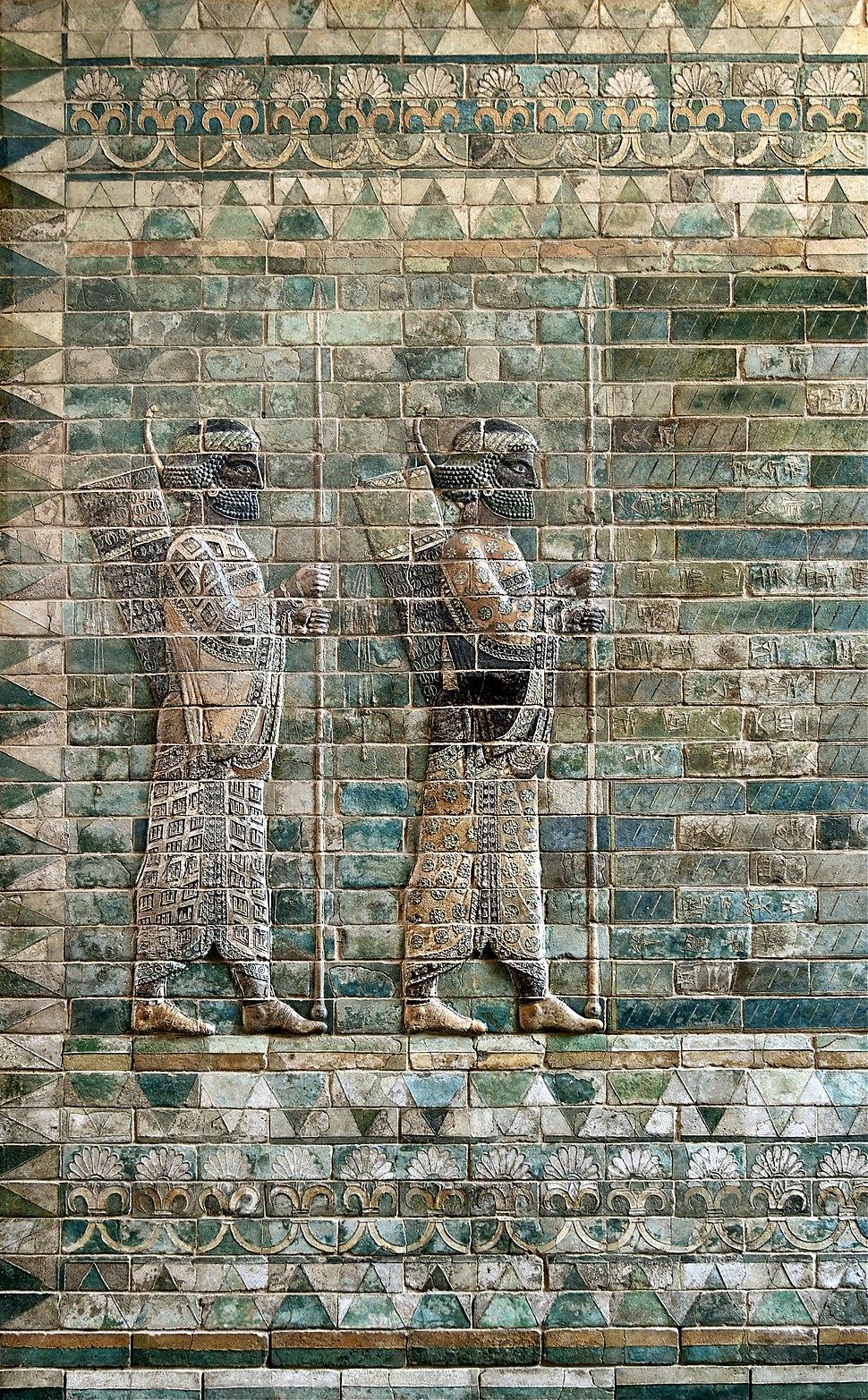 Archers frieze Darius 1st Palace Suse Louvre AOD 488 a