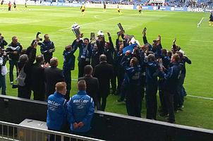 Arminias U23 feiert die Meisterschaft 2014 in der Oberliga Westfalen