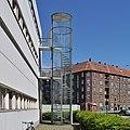 Arne jacobsen, fire escape stairs, NOVO, copenhagen 1954-1955 (4742359585).jpg