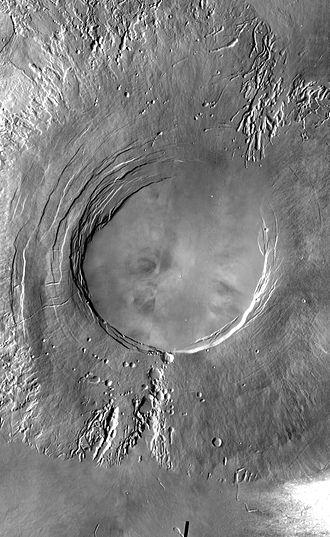 Tharsis Montes - Image: Arsia Mons mosaic