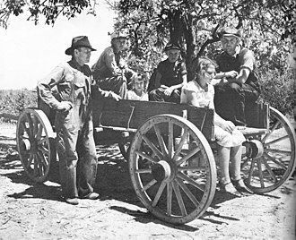 Lee County, Mississippi - Family in a wagon, Lee County, August 1935, Arthur Rothstein.