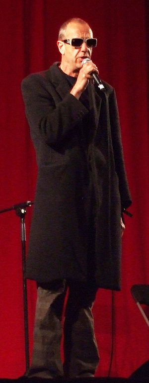 Arthur Smith (comedian) - Impersonating Leonard Cohen in the cabaret tent at the 2008 Glastonbury Festival