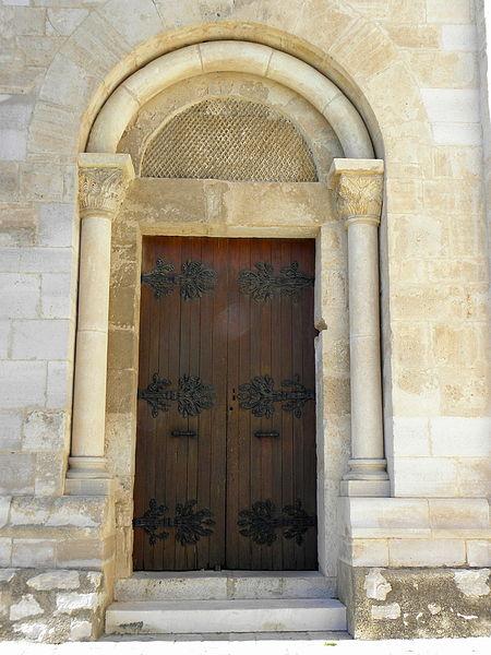 Église Saint-Martial d'Assas (34). Portail sud.