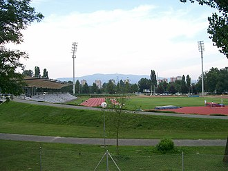 Track and field at the 1999 Military World Games - Image: Atletska staza Mladost Zagreb