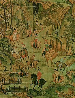 Attributed to Li Zhaodao. Detail of the scroll. Taipei NPM.jpg