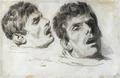Auguste Raffet - Deux études de la tête d'une homme mort.png