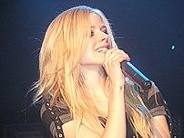 Avril Lavigne having a concert in Geneva