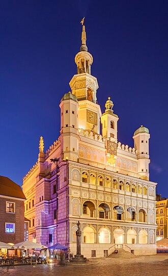 Poznań Town Hall - Main façade of the building with arcade loggia