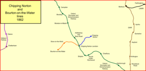Banbury and Cheltenham Direct Railway - The Chipping Norton and Bourton-on-the-Water branches in 1862