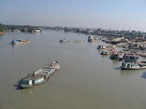 Turag River - The river at Aminbazar-Gabtoli, Dhaka