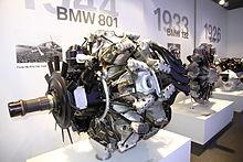 Il motore radiale BMW 801 che equipaggiò molti aerei da guerra tedeschi durante la seconda guerra mondiale.