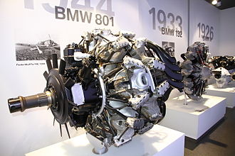 BMW 801 - BMW 801 engine, BMW Museum, Munich, Germany (2013)