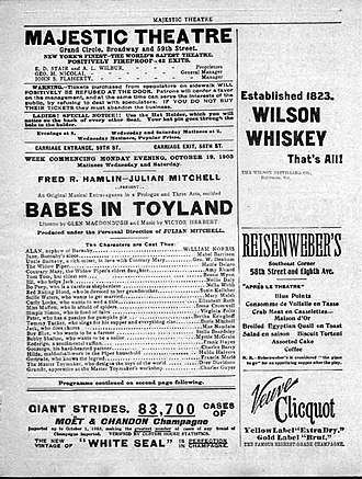 Babes in Toyland (operetta) - 1903 program