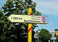 Bad Dürrheim testvérváros helységnévtáblája, Hajdúszoboszló 02.JPG