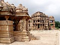 Bahu Temple smaller left, Saas temple larger in the back, Gwalior Fort Madhya Pradesh India.jpg