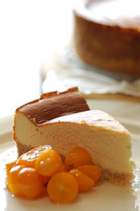 Baked lemon cheesecake with spiced kumquats.jpg