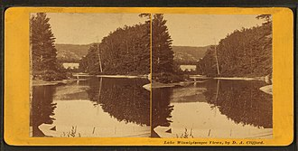 Rumney, New Hampshire - Image: Baker's River, Rumney, N.H., near Rattlesnake Mtn, by Clifford, D. A., d. 1889