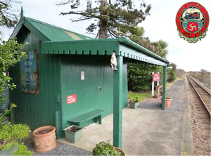 Ballabeg station - The small station building at Ballabeg on the Isle of Man Railway