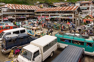 Banaue - Jeepney and taxi terminal