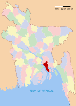 Location of Lakshmipur in Bangladesh