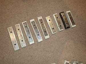 Chime bar - A set of nine chime bars, tuned diatonically